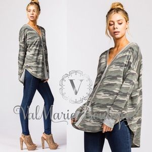 ValMarie Tops - ❤️ARRIVED- CAMO SOFT BUTTON DOWN TOP